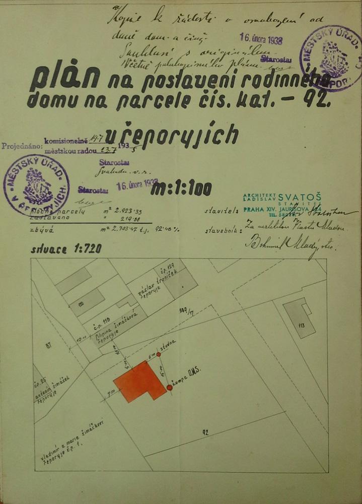 Plán na stavbu budovy